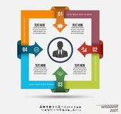 Infographic template . Design concept for presentation or diagram. Vector EPS10. Royalty Free Stock Photos