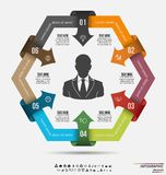 Infographic template . Design concept for presentation or diagram. Vector EPS10. Stock Images