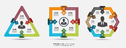 Infographic template . Design concept for presentation or diagram. Vector EPS10. Royalty Free Stock Images