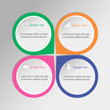 Infographic template. Design on grey background Stock Photography