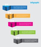 Infographic template design Royalty Free Stock Photography