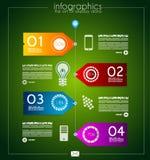 Infographic template design - Original geometrics Royalty Free Stock Image