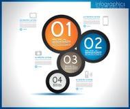 Infographic template design - Original geometrics Royalty Free Stock Photos