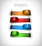Infographic template design - Original geometrics Stock Image