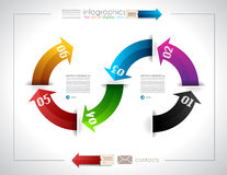 Infographic template design - Original geometrics. Infographic template design - Original geometric paper shapes with shadows. Ideal to display data and Royalty Free Stock Photography