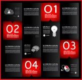 Infographic template design - Original geometrics Stock Images