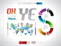 Infographic template design - Original geometrics Stock Photos