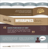 Infographic template design Stock Image