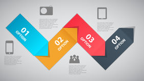 Infographic template design vector illustration Stock Image