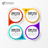 Infographic template. Diagram with 4 steps. Vector. Illistration Royalty Free Stock Photo
