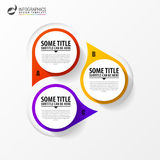Infographic template. Diagram with 3 steps. Vector. Illustration Royalty Free Stock Images