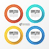 Infographic template. Diagram with 4 steps. Vector. Illustration Stock Photo