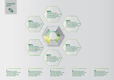 Infographic Template. With diagrams for annual reports in fields of advertising and publishing Stock Photos