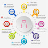 Infographic template with dressing icons Royalty Free Stock Images