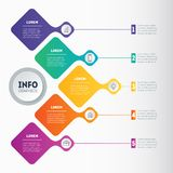 Infographic template. Education, technology, industry or science. Concept with 5 processes, values, parts, options or steps. Business presentation stock illustration