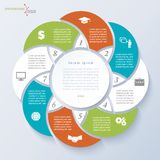 Infographic template with eight segments Stock Images