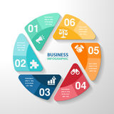 Infographic template element, business parts steps or processes, Stock Photos
