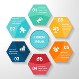 Infographic template element, business parts steps or processes, Royalty Free Stock Photo