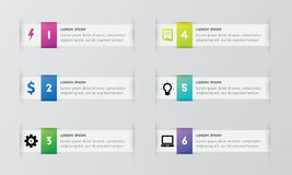 Infographic template pack set for business presentations. Infographic template element pack set for any presentations or business needs Stock Photos