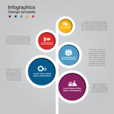 Infographic template with elements and icons. Vector illustration. Infographic design template with elements and icons. Vector illustration stock illustration