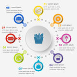 Infographic template with fast food icons Royalty Free Stock Photography