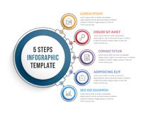 Infographic Template with Five Steps Royalty Free Stock Image
