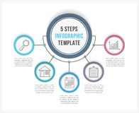 Infographic Template with Five Steps Royalty Free Stock Photography