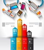 Infographic template with flat UI icons for ttem ranking Royalty Free Stock Photography