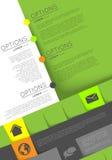 Infographic template, flyer design Stock Photos