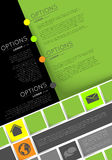 Infographic template, flyer design Royalty Free Stock Image