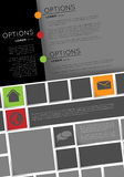 Infographic template, flyer design Stock Image