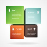 Infographic Template With Four Boxes Royalty Free Stock Photography