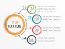 Infographic Template with Four Options Stock Images