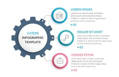 Infographic Template with Gear Stock Images