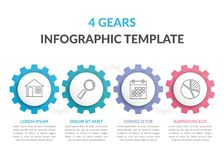 Infographic Template with Gears Royalty Free Stock Photo