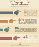 Infographic template with hands and text. Vector Royalty Free Stock Photography