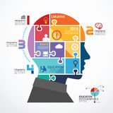 Infographic Template with Head jigsaw banner
