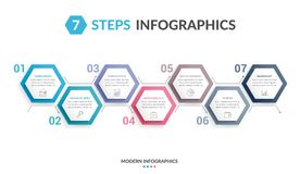 7 Steps Infographics Royalty Free Stock Photography