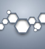 Infographic template with hexgaons. This is file of EPS10 format Royalty Free Stock Image