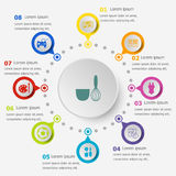 Infographic template with hobby icons Stock Photo