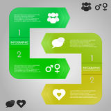 Infographic template with icons. stock illustration