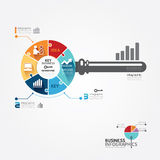 Infographic Template with key business jigsaw banner . concept. Stock Photo