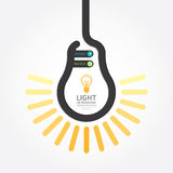 Infographic Template with Light bulbs line banner . concept. Royalty Free Stock Images