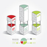 Infographic template Modern Architecture box Design Minimal Royalty Free Stock Image