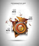 Infographic template for modern data visualization and ranking Royalty Free Stock Photos
