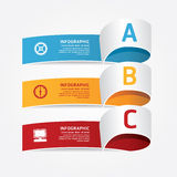 Infographic template Modern Design. Stock Images