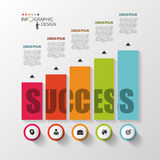 Infographic template. Modern design graph with columns. Vector.  Royalty Free Stock Photos