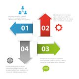 Infographic template Royalty Free Illustration