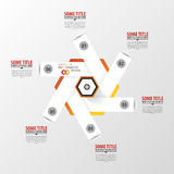 Infographic template. Modern hexagon design. Vector Stock Photo