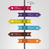 Infographic template of multidirectional pointers on a signpost Royalty Free Stock Image